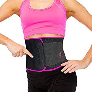Best Premium Waist Trainer & Trimmer Ab Sweat Belt For Men & Women. (New & Improved) Help Slim your Tummy & Hips Easier Than Ever Before Wearing a Slimming Sauna Belt. 4 Sizes, 2 Colors & Carry Bag. 51PT1wl6tSL