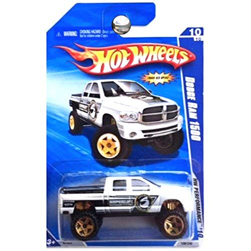 Hot Wheels 2010 HW Performance Dodge Ram 1500 Truck Superlift Suspension - Dodge Ram Wheels Hot