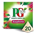 PG tips Raspberry Green Tea 20s Pyram...