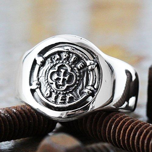 - Mens Signet Ring Mens Ring Signet Ring Carpe Diem Ring Silver Signet Ring Men Signet Ring Mens Jewelry Sterling Silver Ring Mens Silver Ring Coin Signet Ring Silver Coin Ring Pinky Ring Circle Ring