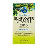 Whole Earth & Sea – Sunflower Vitamin E 400 IU, 90 Soft Gels Review