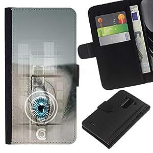 BearCase / Cuero de la tarjeta la carpeta del tirón Smartphone Slots Protección Holder /// LG G3 /// Future Tech doctor Robot Android