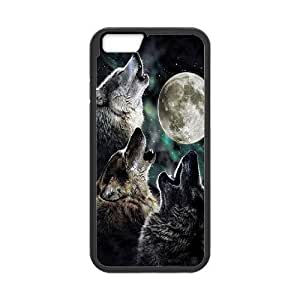 "Wolf and Moon DIY Case for Iphone6 Plus 5.5"", Custom Wolf and Moon Case"