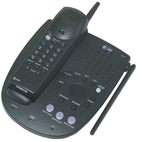 AT&T 9353 900 MHz Analog Cordless Phone with Answering System (Espresso)