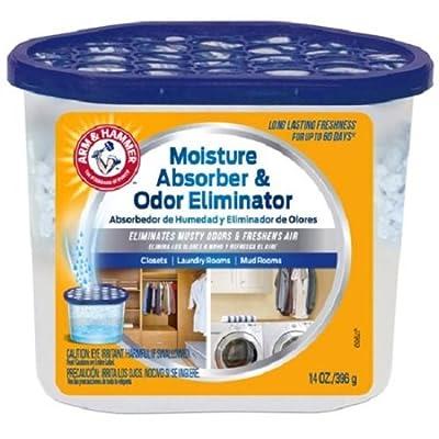..Arm & Hammer FGAH14 14 Moisture Absorber & Max Odor Eliminator Tub, 14 oz, 2-Pack
