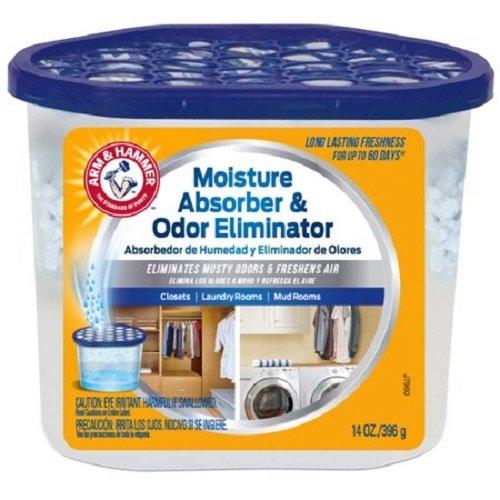 ..Arm & Hammer FGAH14 14 Moisture Absorber & Max Odor Eliminator Tub, 14 oz, 6-Pack