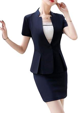 BingSai - Conjunto de Falda de Chaqueta de Trabajo Formal para ...