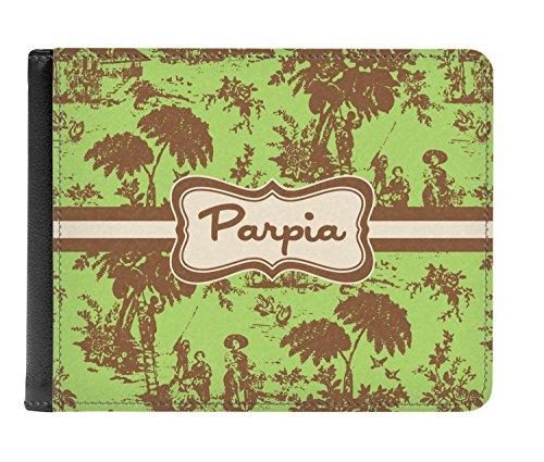 De Hombres Marrón personalizado Verde De Verdadera Doble Pliegue Y Cuero Billetera Los Toile 0x5xwTAz