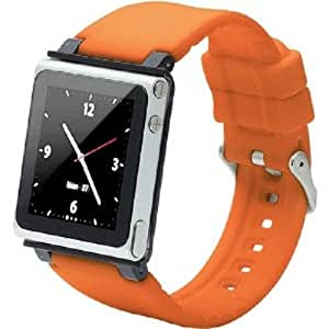 iWatchz CLRCHR22ORG Q Collection Wrist Strap for iPod Nano 6G, Orange (Discontinued by Manufacturer)