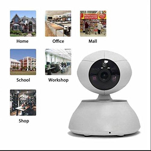 Network Kugel ip kamera Alarmanlagen Die Beste Leistung Einfache Netzwerkverbindung ,drahtlos ,Wifi ip kamera Alarmanlagen mit Karteschlitz für 64GB Mikro SD,unterstützt iPhone/Android/Tablet,Pan/Tilt (Colour1)