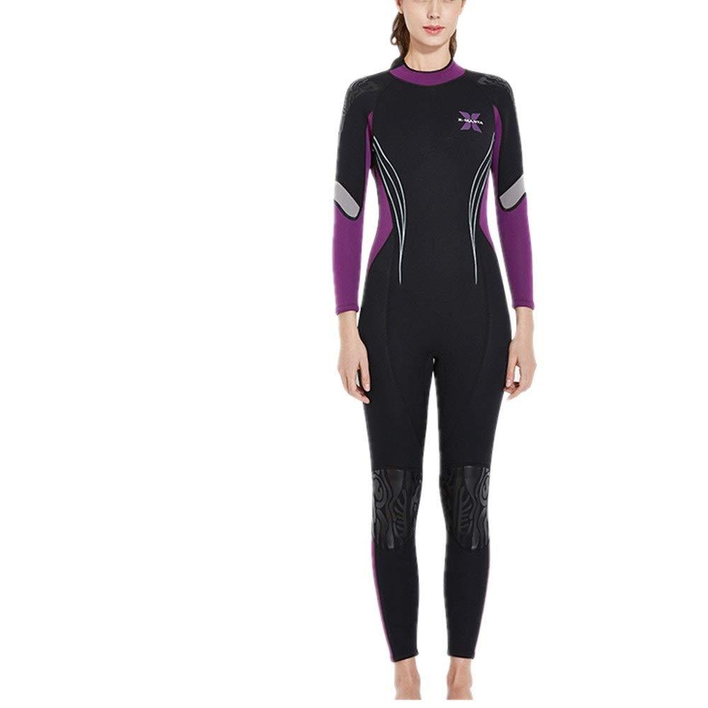 violet X-grand Combinaison de plongée femme Combinaison intégrale en néoprène 3 m pour femmes de qualité supérieure avec combinaison de surf et de natation Surf Plongée Bodyboard ( Couleur   violet , Taille   M