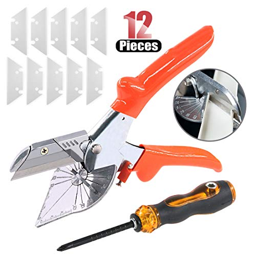 Hilitchi Multi Angle Miter Shear Cutter Cuts 45 to 135 Degrees Quarter Round Cutting Tool for Multi Purpose Trunking…