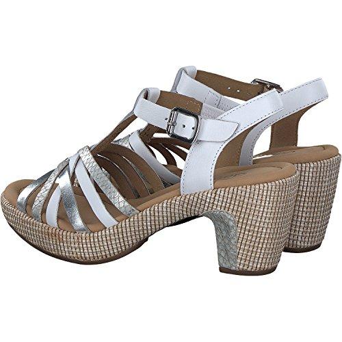 Femme Mode 736 Gabor 62 Blanc Sandales 8UB6Iq