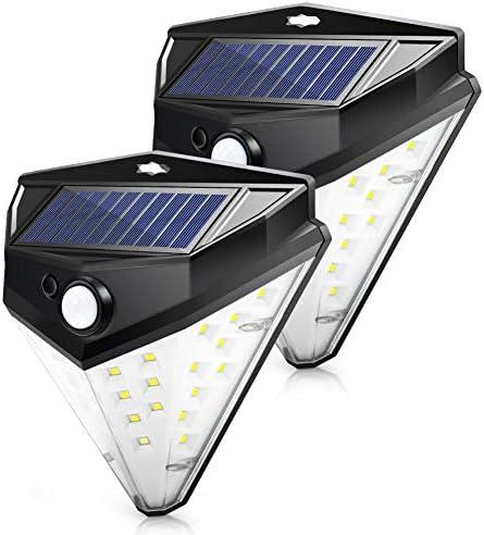 Solar Lights Outdoor Motion Sensor, Solar Outdoor Light Flood Lights Outdoor with Motion Sensor 3 Modes Wider Angle, Waterproof Wireless Outdoor Led Lights Solar Powered Flood Lights – Pack of 2