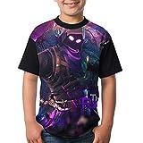 Raven Kid Boy's Girl's Short Sleeve Round Neck Funny Tank T-shirt M