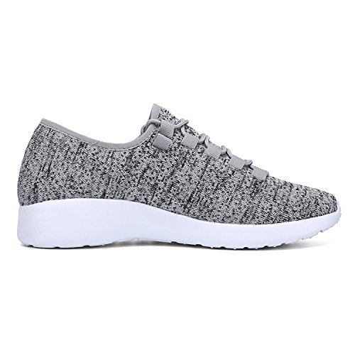 LEADERICA Herren Leichte Athletische Laufschuhe Fashion Casual Sneakers Grau