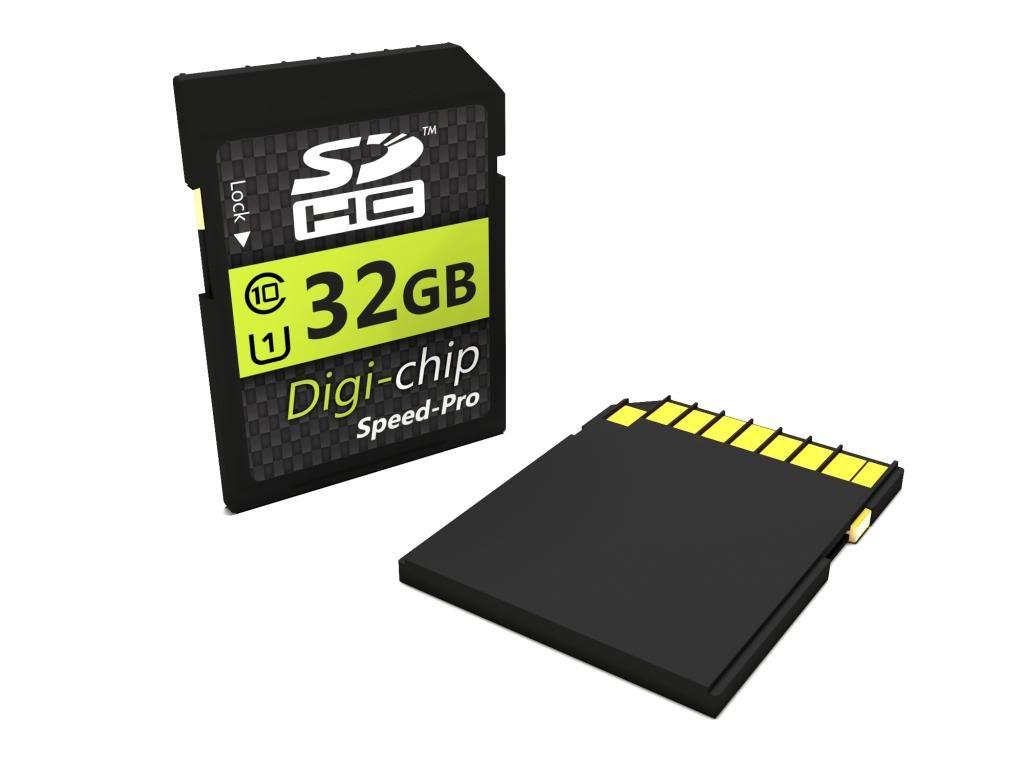 Digi-Chip HIGH SPEED 32GB UHS-1 CLASS 10 SDHC Memory Card for Sony Cybershot Cyber-Shot DSC-RX100, DSC-RX1, DSC-W710, DSC-W730, DSC-H200, DSC-TF1, DSC-WX80, DSC-TX30, DSC-WX300, DSC-HX300, DSC-HX50V, DSC-RX100 II, DSC-RX1R and DSC-RX10 Digital Camera