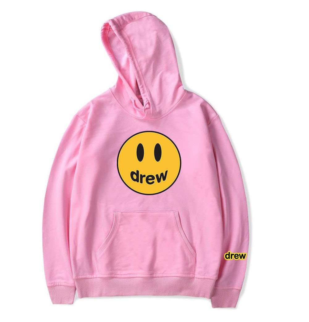 WAWNI 2020 Mode Hip Hop Hiver Drew Hoodies Hommes Femmes Sourire Imprim/é Justin Bieber Hoodedis Sweatshirts