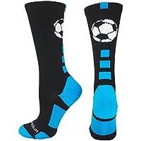MadSportsStuff Soccer Ball Athletic Crew Socks (Multiple...