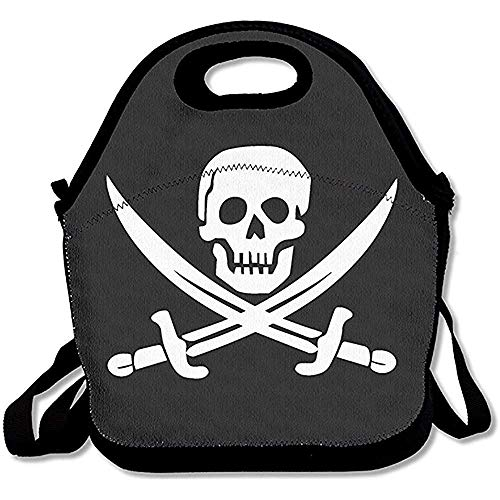 Emmwhite Danger Pirate Lunch Bags Lunch Tote Lunch Box Handbag Kids Adults -