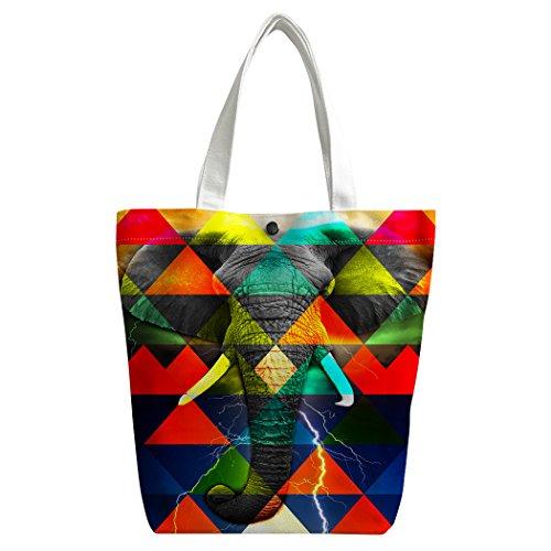 personnalisée bandoulière Canvas à Sac main de Sac repas Camouflage cabas coloré Sac Violetpos éléphant sac SdAwYqd