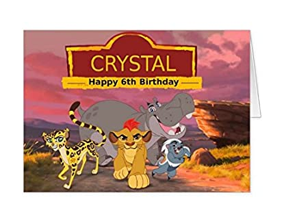 The lion king the lion guard personalised birthday card amazon the lion king the lion guard personalised birthday card bookmarktalkfo Images
