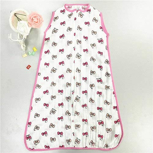 HBK Baby Sleeping Bags 100% Muslin Cotton Aden Anais Thin Sleeping Bag for Summer Bedding Baby Bebe Sacks Sleepsacks 12-18Months (Hello Kitty Kids Sleeping Bag)