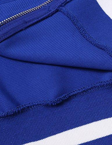 Beyove Felpa Beyove blau Felpa A Donna HRxazpnPH