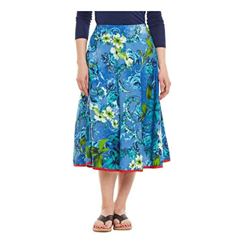 Blue Export Skirt Pleated Me Printed Very Indian Women's Handicrfats x7B0wq0ZF
