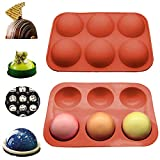 6 Holes Silicone Mold For Chocolate Bombs, Cocoa