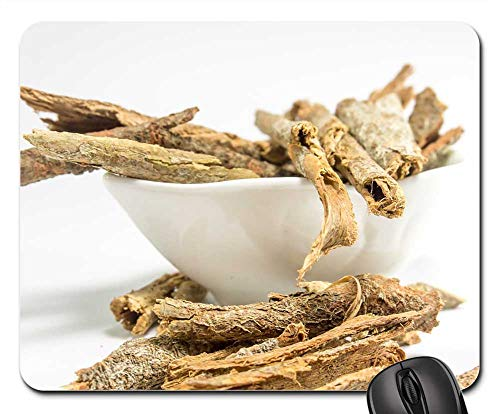 Mouse Pad - Dried Cassia Bark White Table Background Ayurveda 2