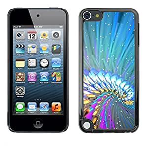 Paccase / SLIM PC / Aliminium Casa Carcasa Funda Case Cover - Abstract Colors - Apple iPod Touch 5