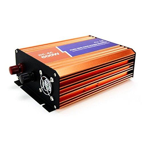 MabelStar 600W Power Inverter 12VDC 230VAC Peak Power 1200W Off-grid Pure Sine Wave Inverter MSLP160004