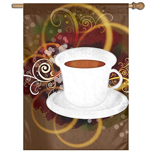 Garden Flag Coffee Abstract Technology Art Lawn Banner Outdoor Yard Home Flag Wall Decoration Flag 27