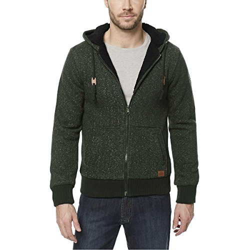 - Buffalo Men's Sherpa Lined Hoodie (Green, Medium)