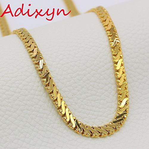 Long Link Chain Necklace | Gold Color Vintage Rapper Hip Hop Chain for Women Wen ()