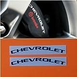 R&G Chevrolet Brake Caliper HIGH TEMP Decal Sticker Set of 2 (Black)