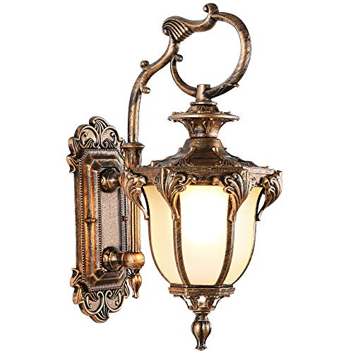 (Lonedruid Led Outdoor Wall Light Fixtures Bronze Exterior Wall Lantern Waterproof Porch Lights Wall Mount for House, UL Certification)