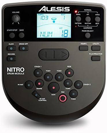 Alesis Nitro - Módulo de tambor con arnés de cable y adaptador de ...