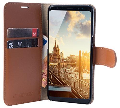 JT BookCase Kreuzberg para Samsung Galaxy S9, Cognac - apropiado para Galaxy S9 G960F