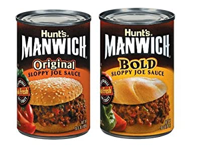 Hunts Manwich Mix 4 cans Bold, 4 cans Original (pack of 8) by Hunt's