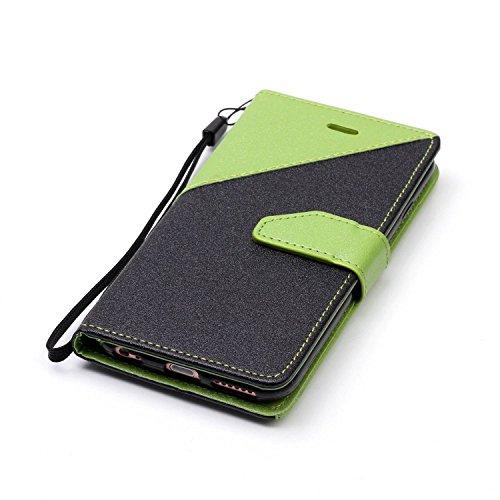 para iPhone 6 plus Funda iPhone 6S Plus Carcasa Wallet Case Suave PU Leather Cuero Cubierta Impresión Libro - Sunroyal® Ultra Slim Case Flip Cover Empalme Contraportada Cierre Magnético Función Soport A-06