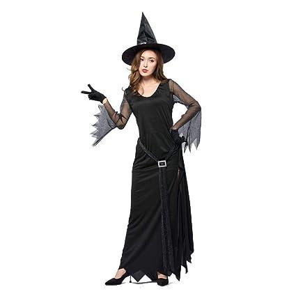Ambiguity Costume di Halloween Donna Noir vers Le Haut de Fourche sorcière  Sexy Robe Longue Wicked 92d1a461c168