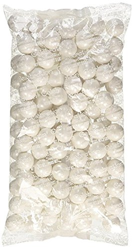 Shimmer Pearlescent White 1 Inch Gumballs (2 Pound)