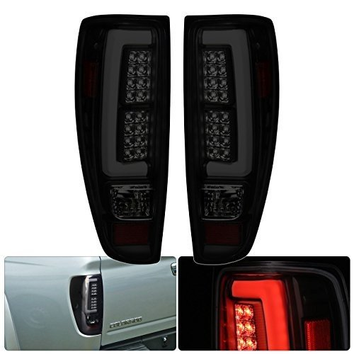 Tube Style Led Tail Lights Brake Stop Lamps Pair For Chevy Colorado GMC Canyon (Dark Smoke)