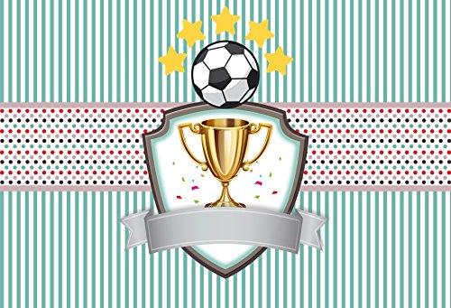 lfeey 7 x 5ftサッカースポーツテーマBackdrop男の子誕生日パーティー写真背景写真撮影ビデオスタジオ小道具   B07D5BS371