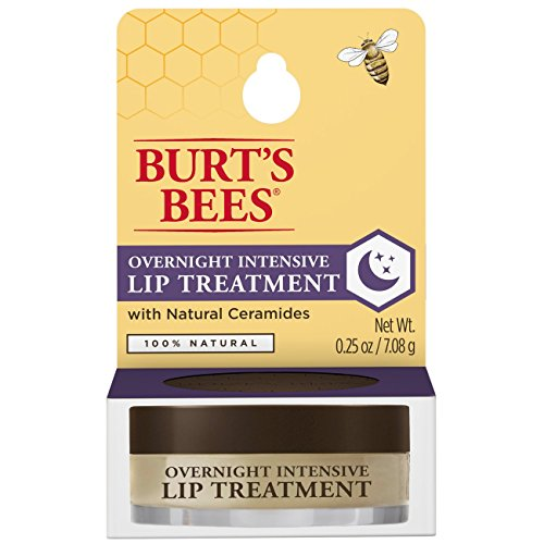 Burts Bees 100% Natural Overnight Intensive Lip Treatment, Ultra-Conditioning Lip Care - 0.25 ounce