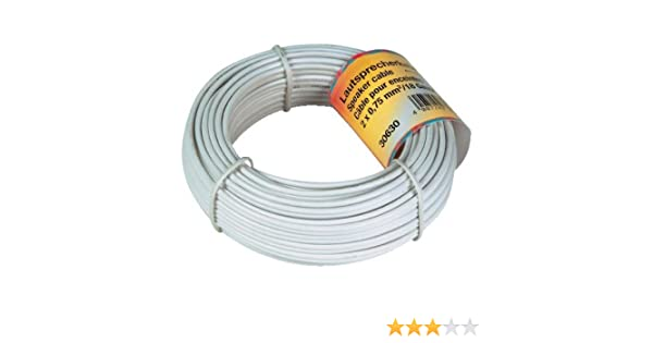 Hama 00030631 Cable de audio (20 m), color blanco: Amazon.es: Electrónica