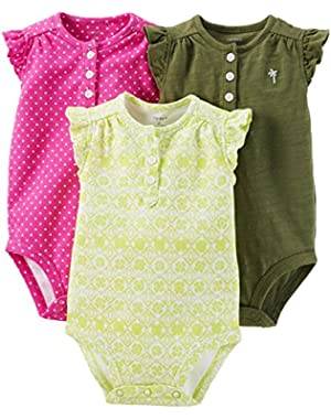 Baby Girls' 3 Pack Bodysuits