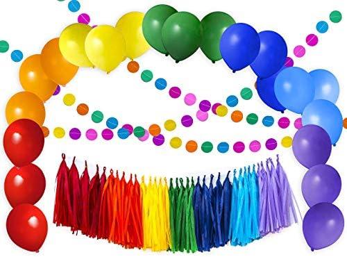 Rainbow Colorful Decoration Balloons Birthday product image